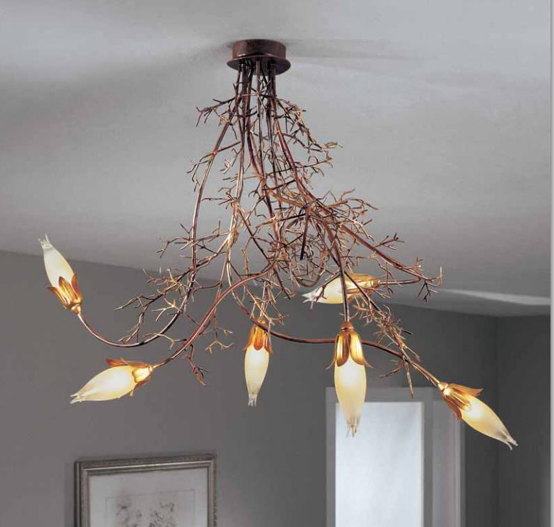 Lampada da soffitto Erica 4060/PL6 ruggine, sconto 50%, prezzo scontato 553,00 euro - 1 pezzo disponibile