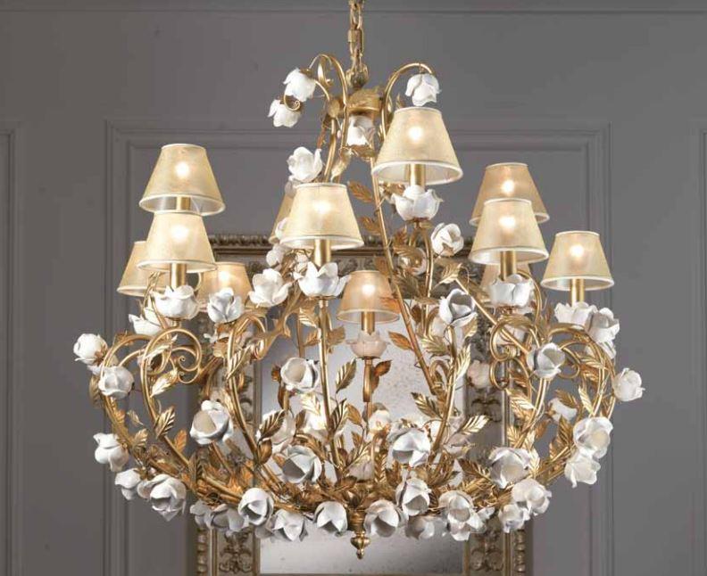 01/41124 22LP lampadario classico di IMAS