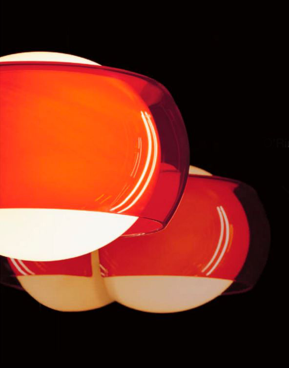 Lampada da parete O'Ring AP, sconto 50%, rosso, 2 pezzi disponibili