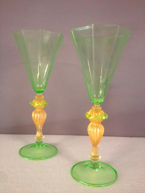 Bicchiere da collezione ottagonale Verde, 2 pezzi disponibili, sconto 50%, prezzo scontato 128,10 Euro