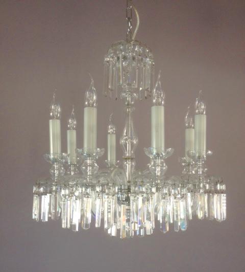 Lampadario classico in cristallo di Boemia 8L, sconto 50%, 1 pezzo disponibile