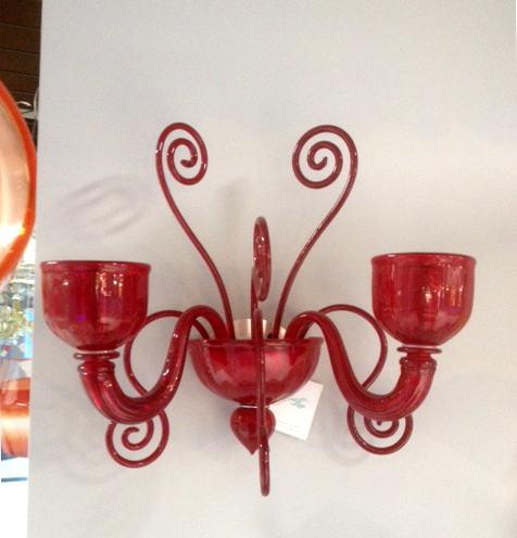Lampada da parete La Murrina Glamour/AP2 rosso, sconto 50% - 1 pezzo disponibile