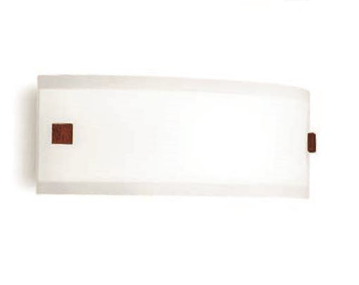 Applique moderna Mille led 7621 di Linealight, bianco inserti color ciliegio, sconto 50%, 2 pezzi disponibili