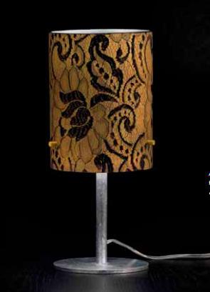 Lampada da Comodino Pizzo 482/LP Nero/oro, sconto 50%, prezzo scontato 179,95 euro - 2 pezzi disponibili