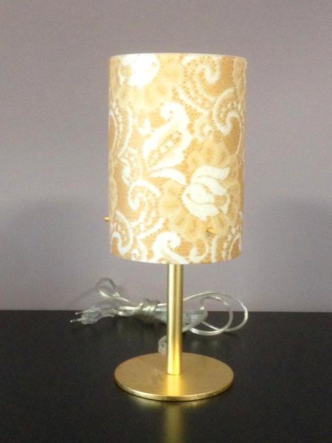 Lampada da Comodino Pizzo 482/LP Bianco/oro, sconto 50%, prezzo scontato 179,95 euro - 1 pezzo disponibile