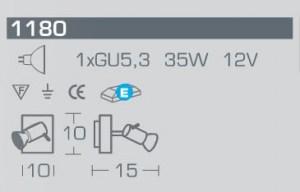 Faretto 1180 di Linealight, sconto 50%, 2 pezzi disponibili Image 1