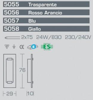 Applique Plafoniera Tabula 5056, sconto 50%, 2 pezzi disponibili Image 2