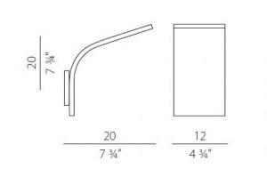 Lampada da parete App 1.0.36 Alluminio Lucido, sconto 50%, 1 pezzo disponibile Image 4