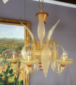 Lampadario La Murrina 6 luci Boheme S6 ambra, sconto 50% PRODOTTO ESAURITO Image 0