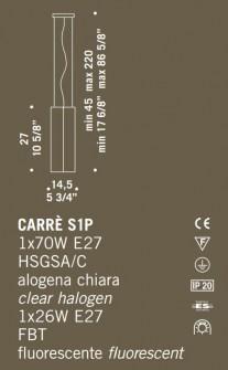 Sospensione moderna Carrè S1P – sconto 50%, 1 pezzo disponibile Image 1