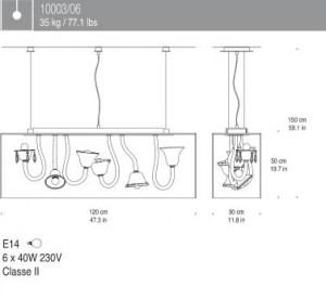 Lampada a Sospensione Curiosity Cabinet 6 luci, sconto 50%, 1 pezzo disponibile Image 1