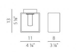 Lampada da parete moderna Domino P9033.11 bianco, sconto 50%, PRODOTTO ESAURITO Image 1