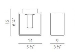 Lampada da parete moderna Domino P9033.14 bianco, sconto 50%, PRODOTTO ESAURITO Image 1