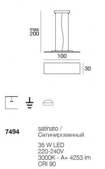 Sospensione moderna Dublight Led 7494 di Linealight, sconto 50%, 1 pezzo disponibile Image 1