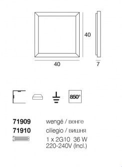 Applique Plafoniera Frame 71910 di Linealight, sconto 50%, 2 pezzi disponibili Image 1
