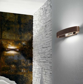 Applique moderna Heli led 6941 marrone di Linealight, sconto 50%, 1 pezzo disponibile Image 1