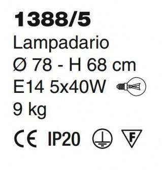 1388-5 lampadario classico di Sylcom Image 1