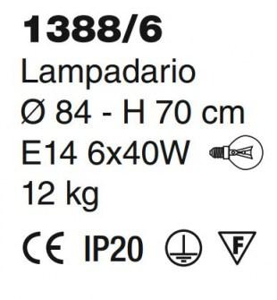 1388-6 lampadario classico - PRODOTTO ESAURITO Image 1