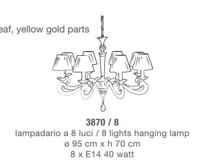 Lampadario classico 3870 di Lam Export Image 1