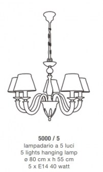 Lampadario classico 5000 di Lam Export Image 1