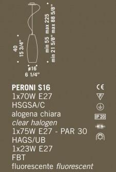 Sospensione moderna Peroni S16 multicolor – sconto 50% Image 1