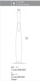 Lampada da terra Sezz Lamp TE5040, sconto 50%, 1 pezzo disponibile Image 2