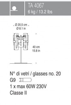 Lampada da Tavolo Sixty LP cristallo, sconto 50%, 2 pezzi disponibili Image 1
