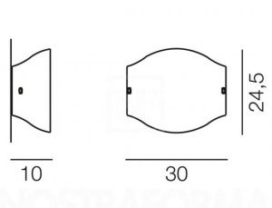Applique moderna Tessuto APG Ambra –  PRODOTTO ESAURITO Image 1