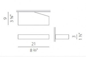 Lampada da parete moderna Tip A5801 Led bianco, sconto 50%, 1 pezzo disponibile Image 1