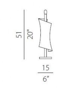 Lampada da tavolo moderna Twister C6732.35, sconto 50%, 1 pezzo disponibile Image 1