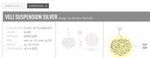Veli Silver sospensione M di SLAMP - PRODOTTO ESAURITO Image 1
