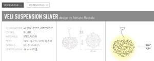 Veli Silver sospensione M di SLAMP - PRODOTTO ESAURITO Image 2