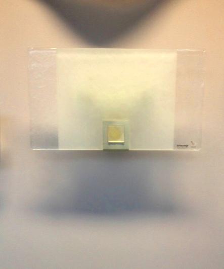 Lampada da parete Rio 1076, vetro piatto inserto bianco, sconto 50%, 1 pezzo disponibile