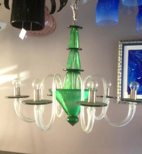 Lampadario La Murrina 6 luci Serenata S6 verde, sconto 50% - 1 pezzo disponibile