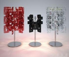 Lampada da Tavolo Sixty LP rosso, sconto 50%, 2 pezzi disponibili