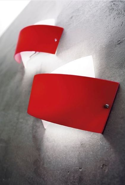 Lampada da parete moderna Tourbillon AP A9632 rosso, sconto 50%, PRODOTTO ESAURITO