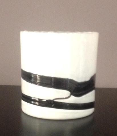 Vaso Alaska basso bianco/nero, sconto 50%, PRODOTTO ESAURITO