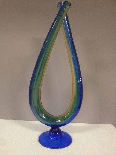 Vaso stilizzato Contrarieux Blu/Ambra, sconto 50%, prezzo scontato 215,30 Euro - PRODOTTO ESAURITO